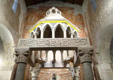 086 ciborio ed affreschi del XII sec.