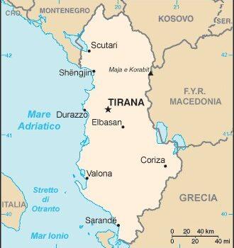 albania cartina
